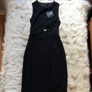 ASOS NWT Black keyhole front/back midi dress